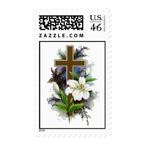 Cross7(Vintage Art) Postage Stamps