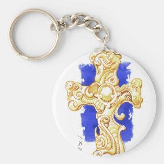 Cross #1 keychain