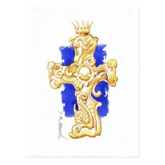 Cross #1 postcard