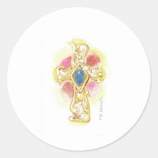 Cross #2 classic round sticker