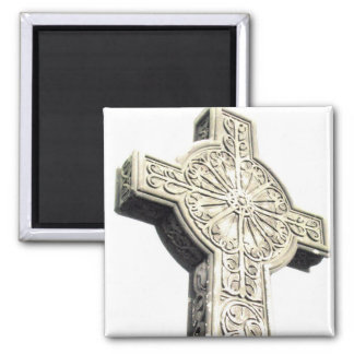 Cross 2 Inch Square Magnet