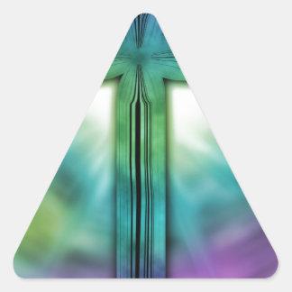 Cross #2 triangle sticker