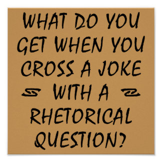 Cross A Joke With Rhetorical Question Funny Poster