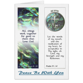 Cross and Abalone Scriptures Bookmarks NoteCard Greeting Card