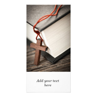 Cross and Bible Card