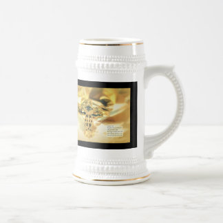 Cross and Bible Quote - Christianity Beer Stein