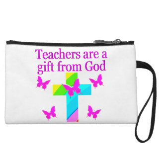 CROSS AND BUTTERFLY TEACHERS BLESSING DESIGN WRISTLET