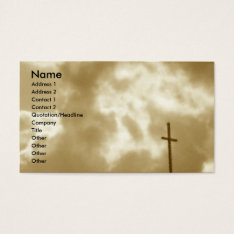 Cross And Clouds Business Cards at Zazzle