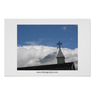 Cross and Clouds Poster