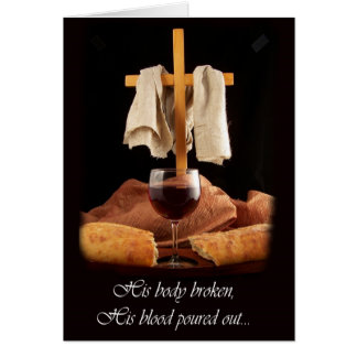 Cross and Communion Easter Design Greeting Card