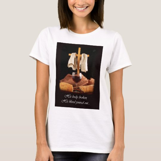 Cross and Communion Easter T-shirt