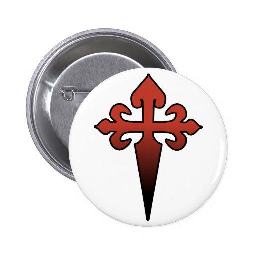 Cross and Dagger Button