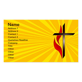 Cross and Flame Business Cards