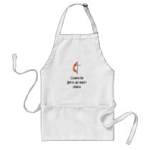 Cross and flame, ClearwaterUnited MethodistChurch Adult Apron