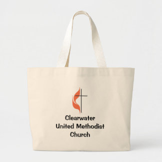 Cross and flame, ClearwaterUnited MethodistChurch Tote Bags