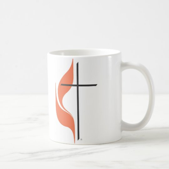 Cross and flame, ClearwaterUnited MethodistChurch Coffee Mug