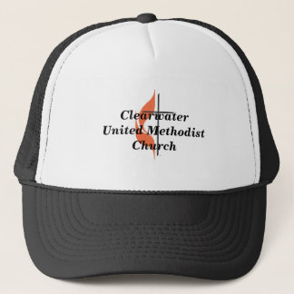 Cross and flame, ClearwaterUnited MethodistChurch Trucker Hat