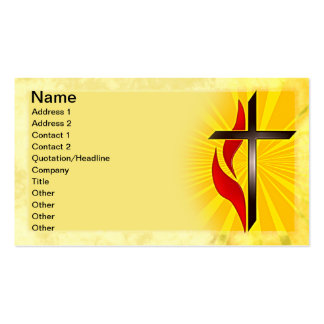 Cross and Flame Double-Sided Standard Business Cards (Pack Of 100)