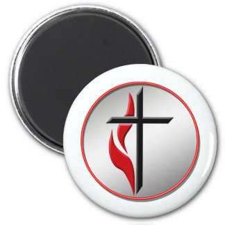CROSS AND FLAME MAGNET