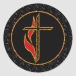 Cross and Flame Stickers