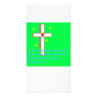 Cross and Grace Prayer Card Photo Card Template