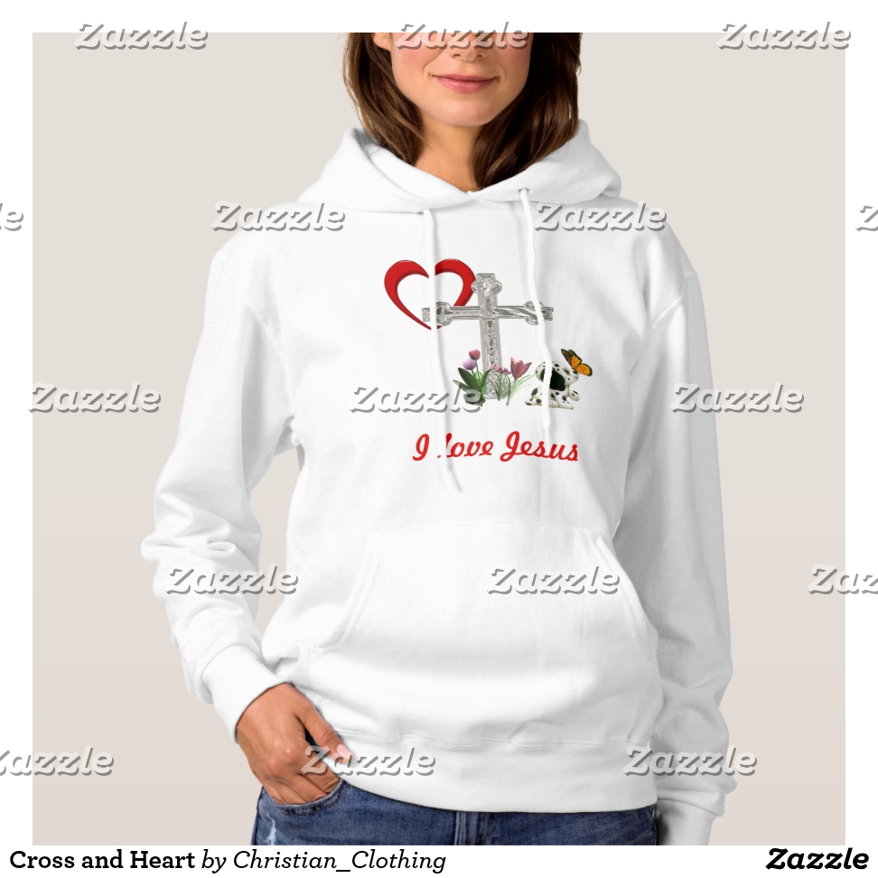 Cross and Heart Hoodie - Best Selling Long-Sleeve Street Fashion Shirt Designs