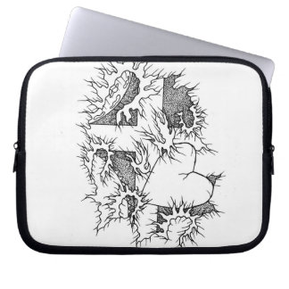 Cross and Heart Laptop Skin Computer Sleeve