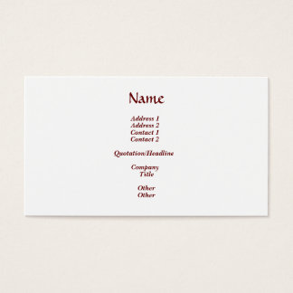 Cross and Holy Spirit / Holy Ghost Business Card