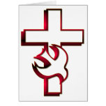 Cross and Holy Spirit / Holy Ghost Greeting Cards