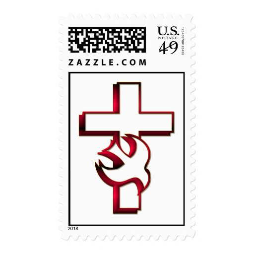 Cross and Holy Spirit / Holy Ghost Postage Stamp