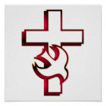 Cross and Holy Spirit / Holy Ghost Poster
