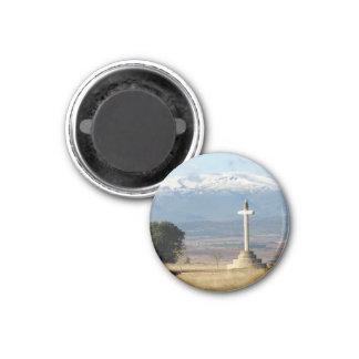 Cross and Mountains Magnet