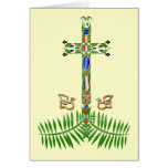 Cross and Palms- Easter Card
