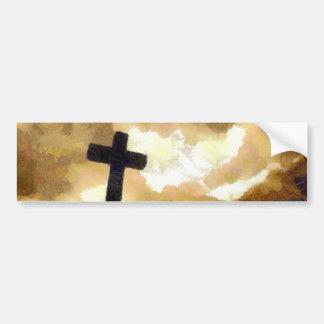 Cross and Sky Bumper Sticker