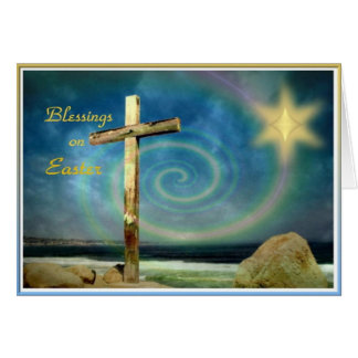 Cross and Star - Happy Easter Card