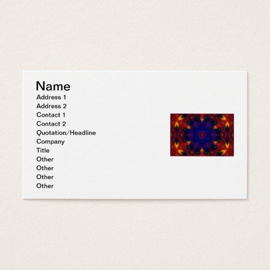 Cross and Star Mandala Business Card