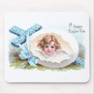 Cross, Angel and Egg Vintage Religious Easter Mouse Pad