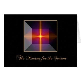 Cross at Christmas Greeting Card