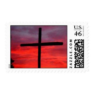 cross at sunrise stamp