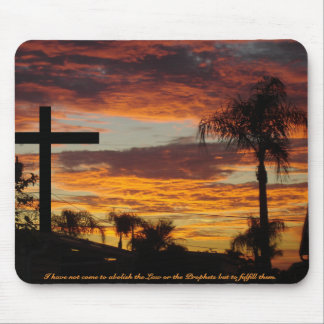 Cross At Sunset Mouse Pad