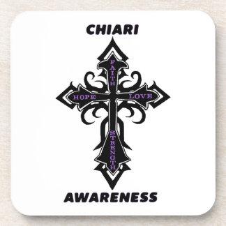 Cross/Awareness...Chiari Beverage Coaster