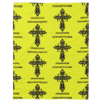 Cross/Awareness...Endometriosis Fleece Blanket