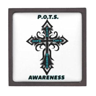 Cross/Awareness...P.O.T.S. Keepsake Box