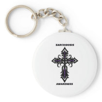 Cross/Awareness...Sarcoidosis Keychain