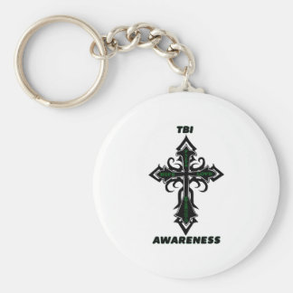 Cross/Awareness...TBI Keychain