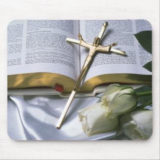 Cross & Bible Mouse Pad