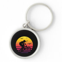 cross bike retro sunset, #cross bike keychain
