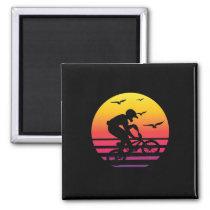 cross bike retro sunset, #cross bike magnet