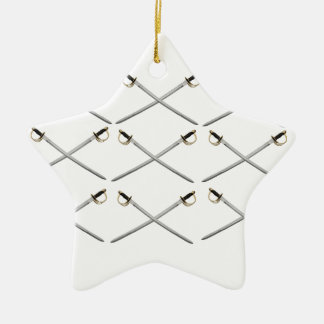 cross blade sabers ceramic ornament