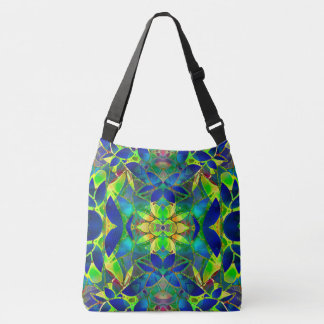 Cross Body Bag Floral Fractal Art